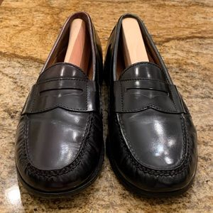 Cole Haan Pinch Black Leather Penny Loafers 10.5D